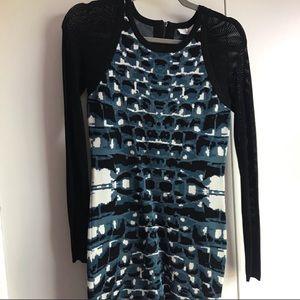 Parker Long Sleeve Hartley Knit Sweater Dress Blue